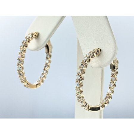 """Earrings Inside/Outside 2.00ctw Diamonds 14ky 1X.8"""" 121090001"""