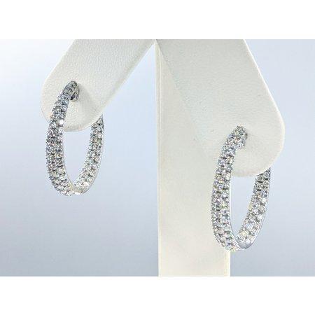 """Earrings Inside/Outside 1.92ctw Diamonds 14kw .9x.8"""" 121090025"""