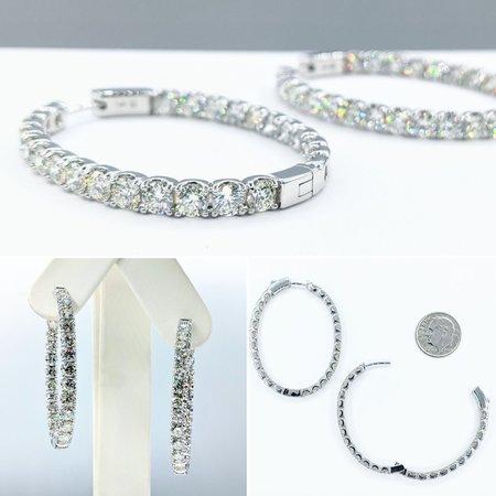 """Earrings Inside/Outside 9.85ctw Diamonds 14kw 1.75x1.5"""" 121090010"""