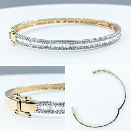 """Bracelet Bangle 1.46ctw Diamonds 14ky 7"""" 121090083"""