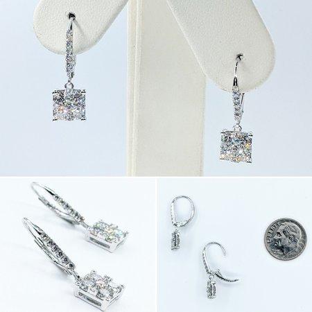 """Earrings Dangle 1.24ctw Diamonds 14kw .8x.1"""" 121090017"""