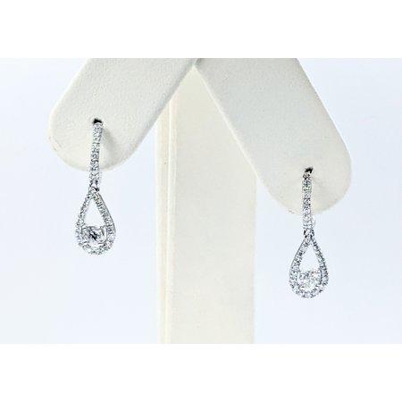 """Earrings Dangle 1.15ctw Diamonds 14kw 1x.25"""" 121090022"""