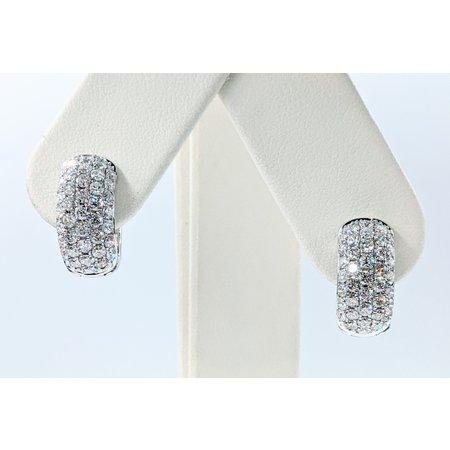 Earrings Huggies 1.9ctw Diamonds 14kw 16x7.5mm 121090021