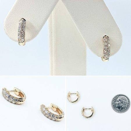 Earrings Huggies .47ctw Diamonds 14ky 12x3mm 121090002