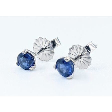 Earrings Stud .52ctw Round Sapphire 14kw 121090291