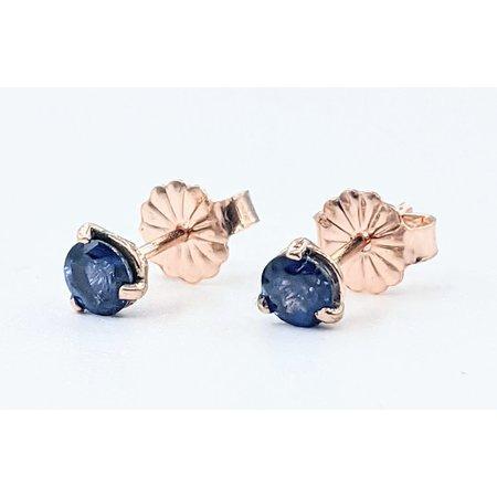 Earrings Stud .62ctw Round Sapphire 14kr 121090289