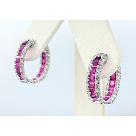 """Earrings 1.53ctw Diamonds 14kw .75x.25"""" 121090229"""