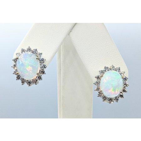 """Earrings 1.86ctw Diamonds 14ky .5x.5"""" 121090234"""