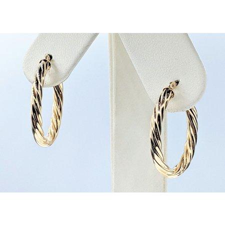 "Earrings Twist Hoop 14ky 1x.75"" 121090153"