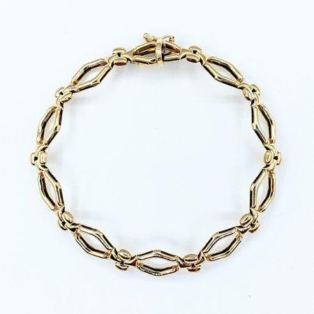 """Bracelet Diamond Shape Link 14ky 7"""" 221090063"""