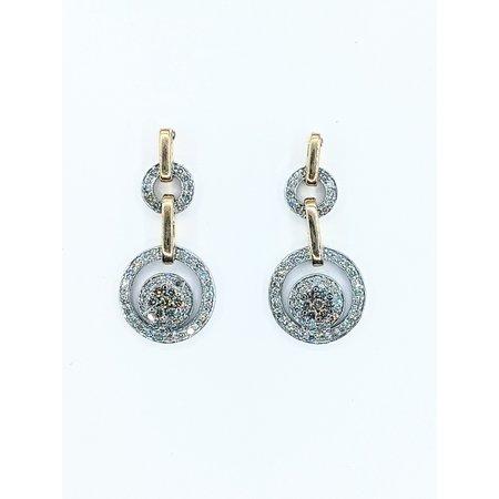 Earrings Drop .50ctw Round Diamonds 14tt 27x13mm 221090072