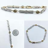 "Bracelet .60ctw SI2 Yellow Sapphires .63ctw 18ktt 7.25"" 221090066"