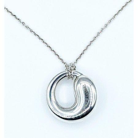 "Necklace Tiffany & Co. Eternal Circle Pendant by Elsa Peretti 925 18"" 221100007"