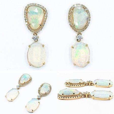 """Earrings .10ctw Diamonds 14ky 1x.4"""" 121090224"""