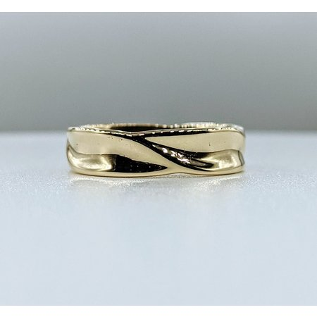 Ring Wave Style Band 14ky Sz10 221100006