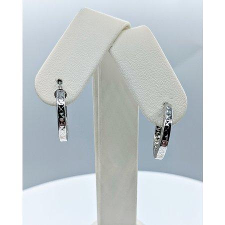 Earrings Textured Hoop 14kw 20x3mm 221100005