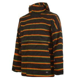 Burton Burton Launch Jacket Large Black/Stripe