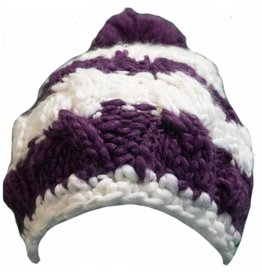 Spacecraft SpaceCraft Ella Stripe Pom White Hat