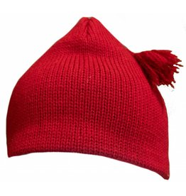 Turtle Fur Tassel Wool Hat Red