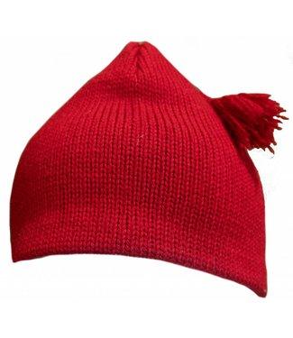 Turtle Fur Tassel Wool Hat Red