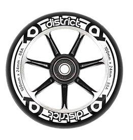 District 7 Spoke Wheels 100mm x 24mm Black
