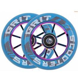 Grit Scooters 8 Spoke Wheels 100mm Blue