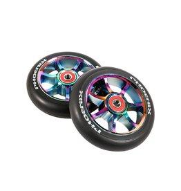 Phoenix 7 Spoke Wheels 110mm Oil Slick/ Black