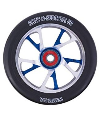 Grit Scooter Co 10 Spoke Wheels 125mm Blue / Polished 88A