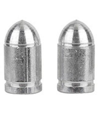 Tricktopz Valve Caps Presta Bullet Silver Pair