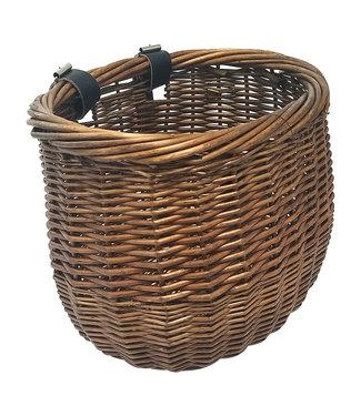 Sunlite Basket Front Willow Bushel Brown Strap-On
