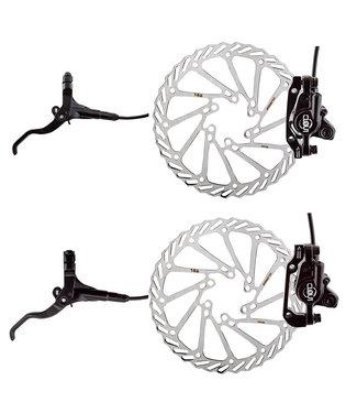 Clarks Clout-1 Hydraulic Disc Brake F+R w/Lever 160 Black