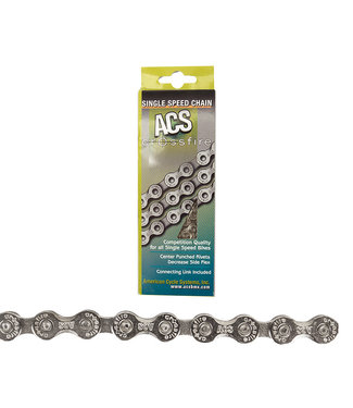 ACS Chain 1/2x3/32 Crossfire 1-Speed Silver 106 Links
