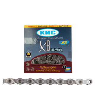 KMC Chain X8 6/7/8-Speed EPT Silver 116 Links