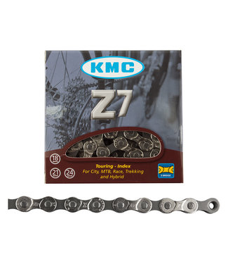 KMC Chain Z7 Index 6 / 7 / 8-Speed Silver 116 Links