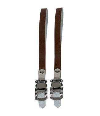 Sunlite Toe Straps RD Leather Brown