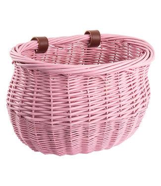 Sunlite Basket Front Willow Bushel Pink Strap-On 13x8x9