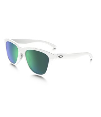 Oakley Moonlighter Polished White / Jade Iridium Polarized