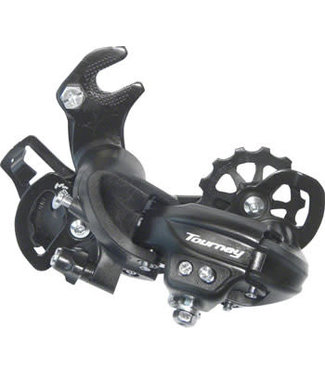 Shimano Tourney RD-TY300-SGS Rear Derailleur - 6,7-Speed, Long Cage, Black, Dropout Claw Hanger