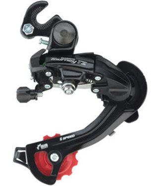 Shimano Tourney RD-TZ500 Rear Derailleur - 6,7-Speed, Long Cage, Black, Dropout Claw Hanger