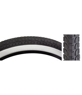 Sunlite Tire 26x2.125 Black/White Cruiser K927w/Sun Logo Komfort
