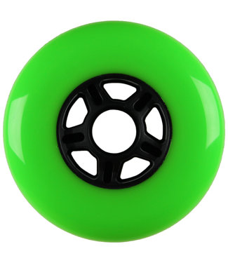 Blank 100mm 88a Scooter Wheels Green/Black 5 Spoke
