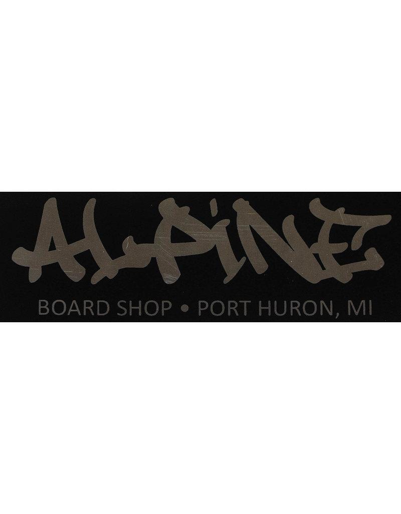 Alpine Sticker Black/Chrome