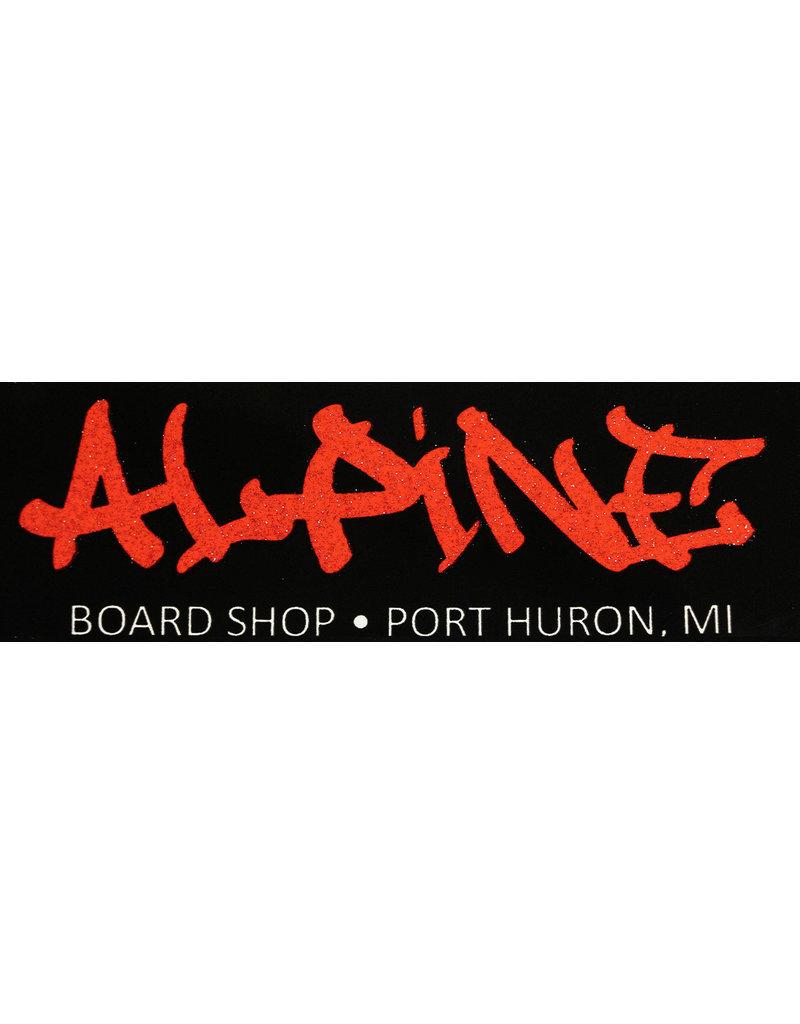 Alpine Sticker Black/Glitter Red