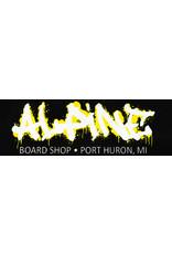 Alpine Sticker Black/White/Yellow