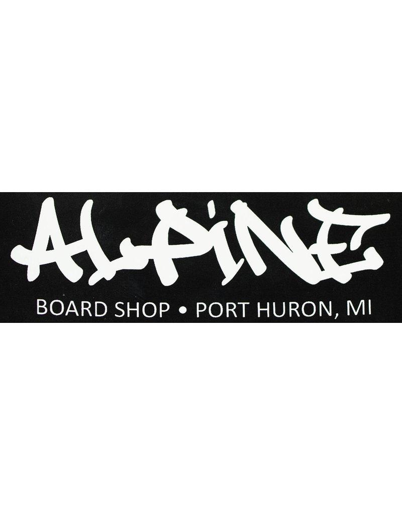 Alpine Sticker Black/White