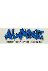Alpine Sticker White/Blue/Black