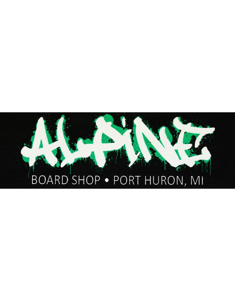 Alpine Sticker Black/White/Glitter Green