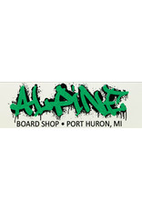 Alpine Sticker White/Glitter Green/Black