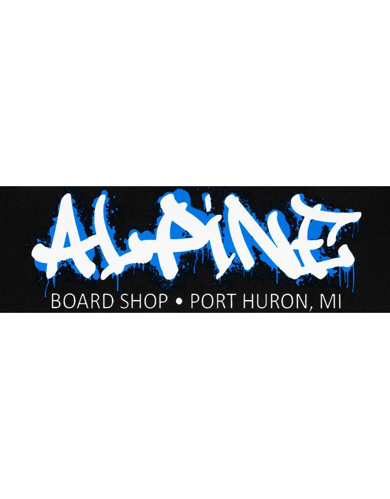 Alpine Sticker Black/White/Blue