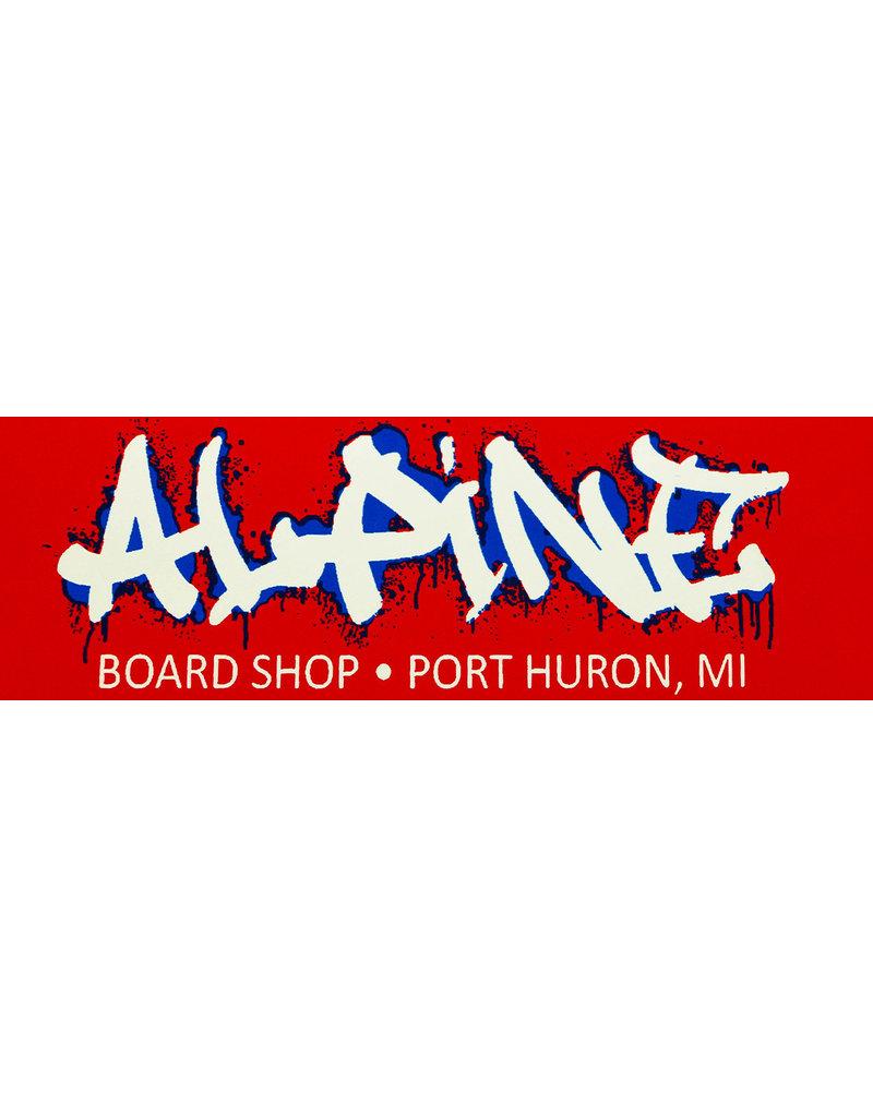 Alpine Sticker Red/White/Blue